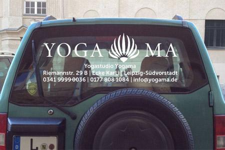 Autobeschriftung Yoga Yogastudio Aufkleber