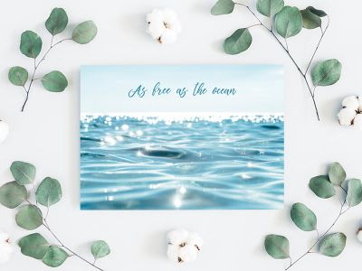 As free as the ocean - Spruch Postkarte
