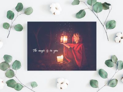 The magic is in you - Spruch Postkarte